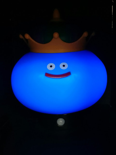 Following up on the trail of the Slime Sensor Light, King Slime joins the  room illumination duties with a 16cm toy which lights up when movement is  detected ...