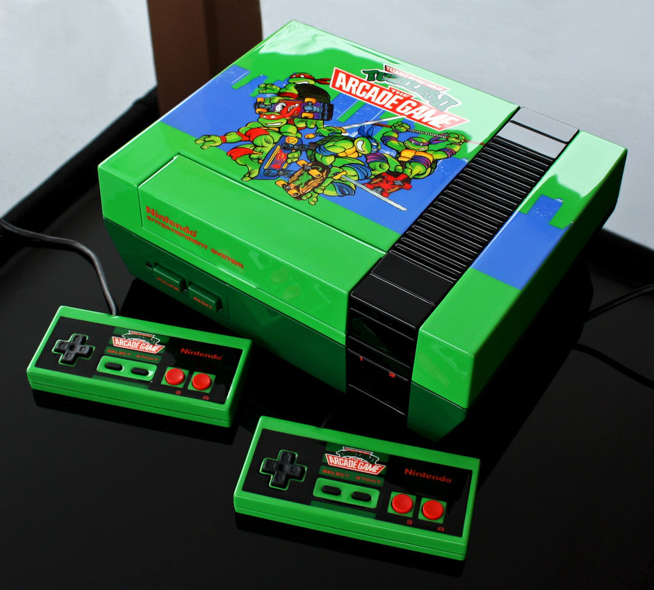 fan art nes gets a tmnt ii the arcade game paint job - Painting Games 2