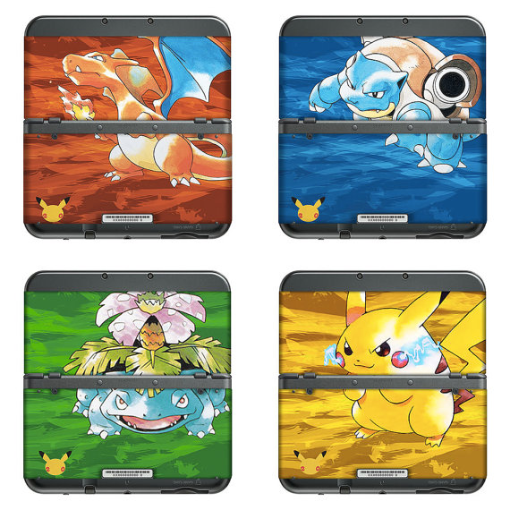 Fan art pokemon decals for 3ds and 3ds xl gonintendo for Housse 3ds xl pokemon
