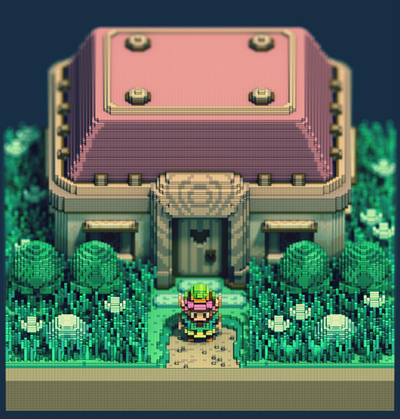 Fan-Art: 3D Pixel Legend Of Zelda: A Link To The Past