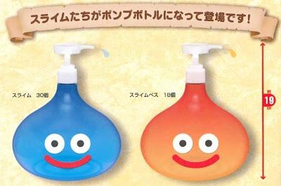 NCSX imports - Mog lamp, Dragon Quest slime soap dispensers