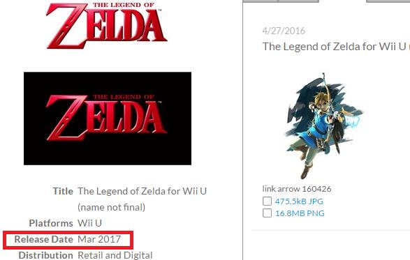 Wii u zelda release date in Sydney