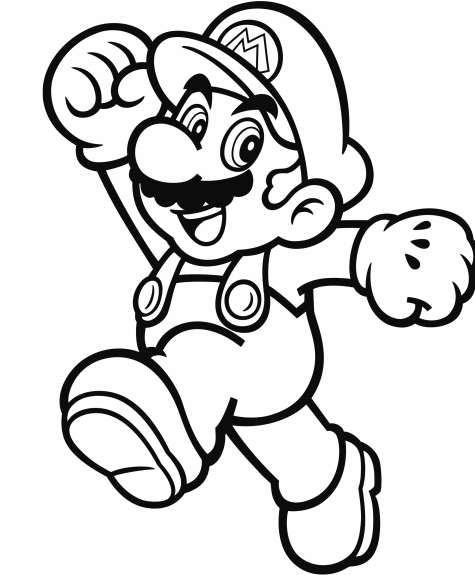 Official mario coloring pages gonintendo for Printable mario coloring pages