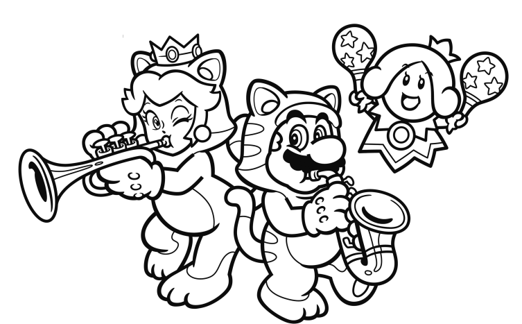 Nintendo Released Coloring Book Pages You Could Print Out At Home And Color Theyve Done That Again This Time With Some Art From Super Mario 3D World