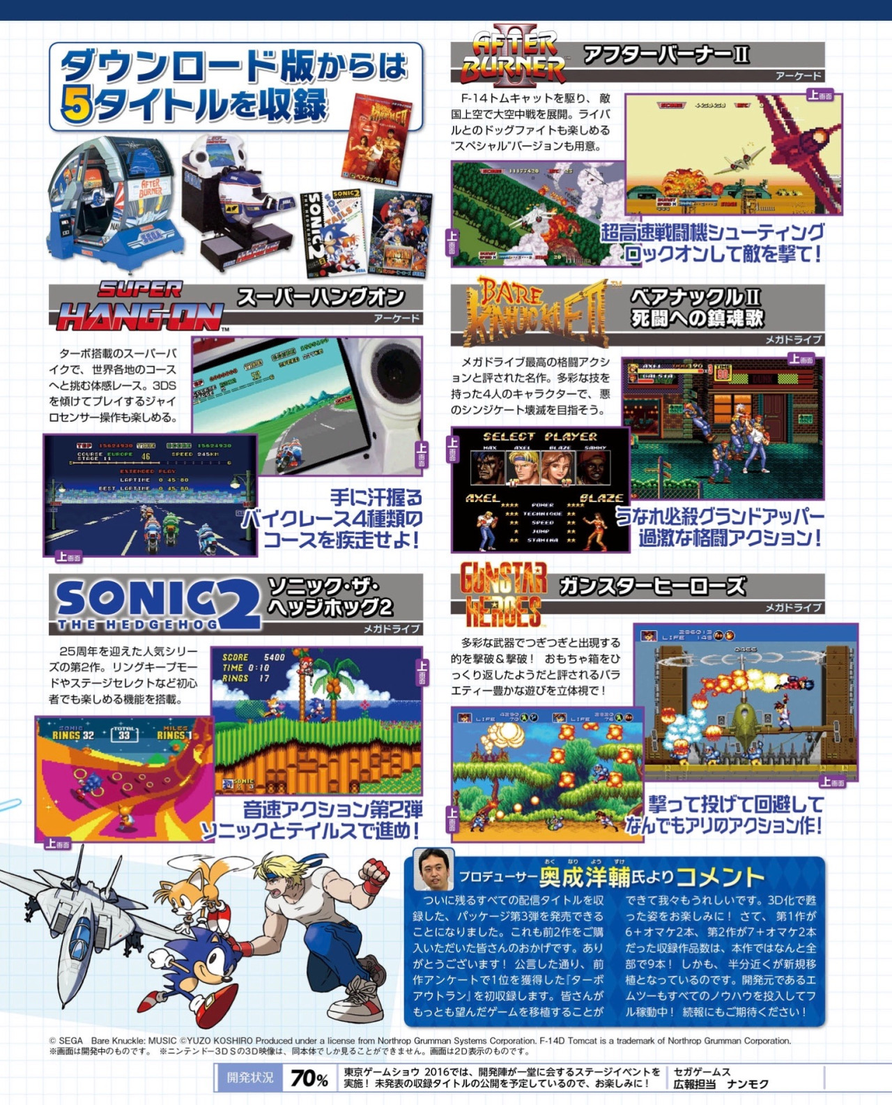 Sega 3D Fukkoku Archives 3: FINAL STAGE (Currently JP-only) - Video