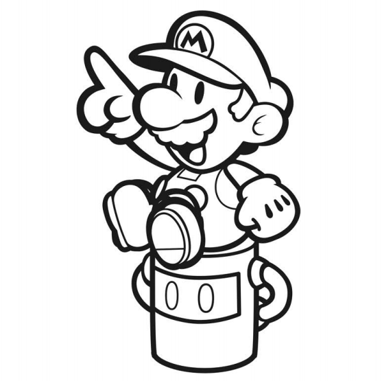 Paper Mario: Color Splash - official coloring book artwork | GoNintendo