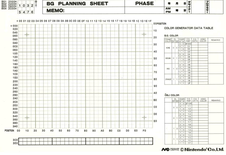 Download official Super Mario Maker for 3DS level planner sheets