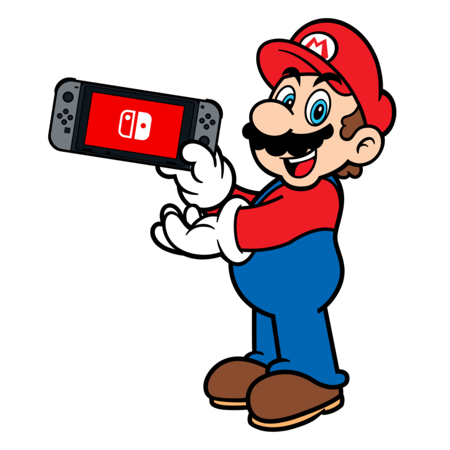 Random time fan art of mario characters using the for Housse nintendo switch mario
