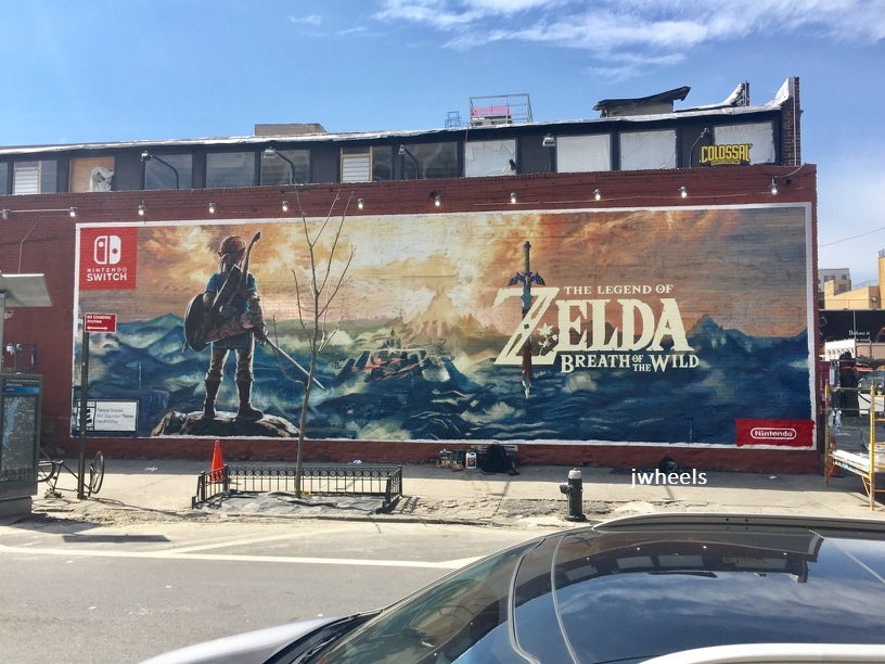 The Legend of Zelda: Breath of the Wild official wall mural advertising spotted in Brooklyn
