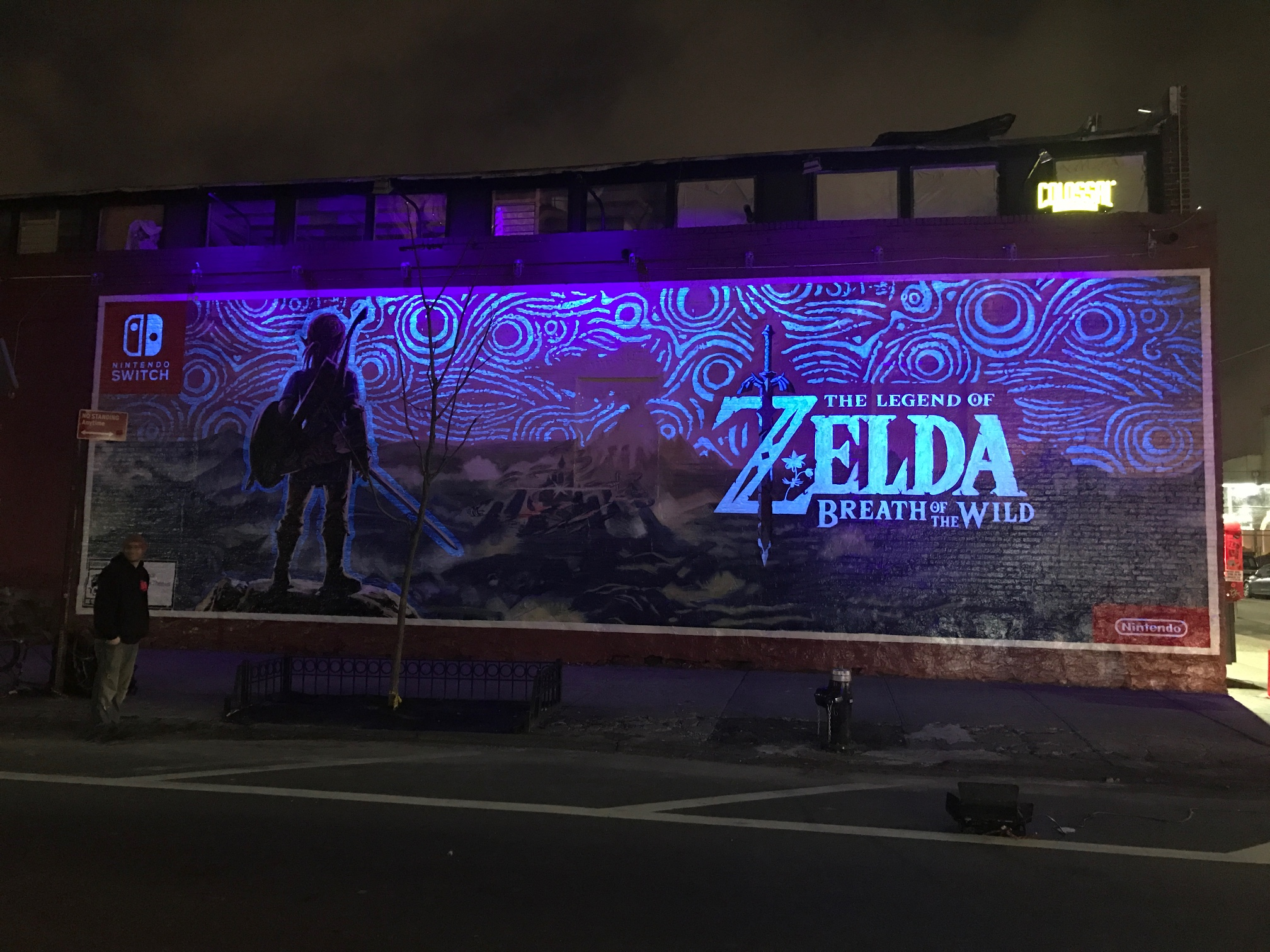 Man, that mural is killer either way, but that night shot is pretty amazing. Man, sad to know this is going to be taken down at some point!