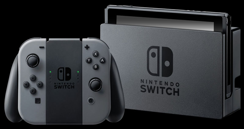 The Nintendo Switch Gray Mario Kart 8 Deluxe Bundle includes: The Nintendo Switch Console with Gray Joy-Con, The Legend of Zelda Breath of the Wild ...