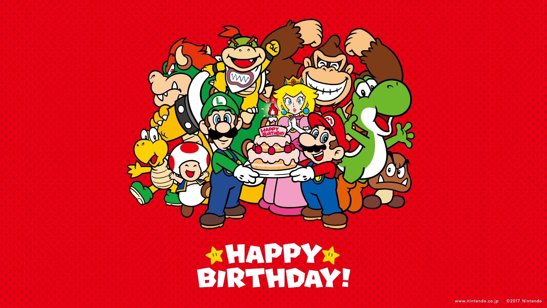 Nintendo Releases Super Mario Happy Birthday Wallpapers