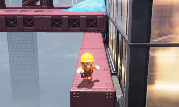 Super Mario Odyssey - Super Mario Maker costume spotted   GoNintendo