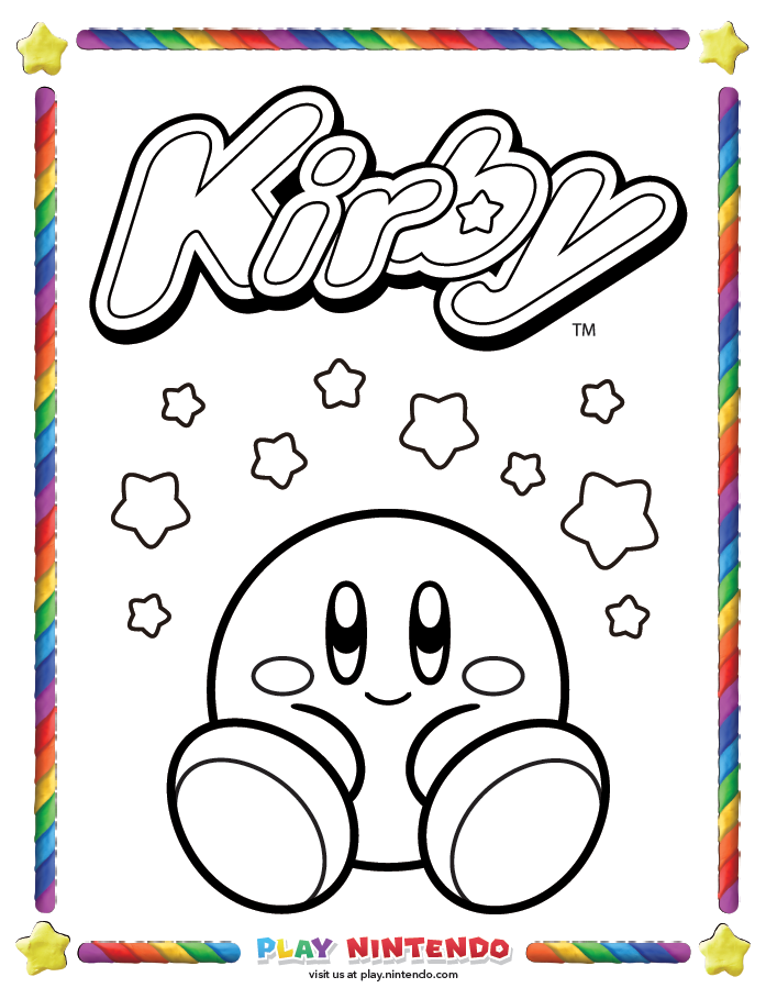 nintendo kirby coloring pages - photo#19