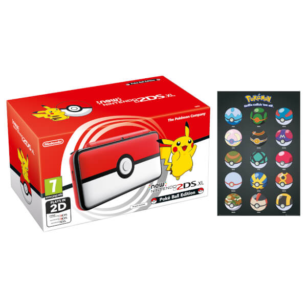 Nintendo uk store new 2ds xl pok ball edition pok - Can you play 3ds games on 2ds console ...