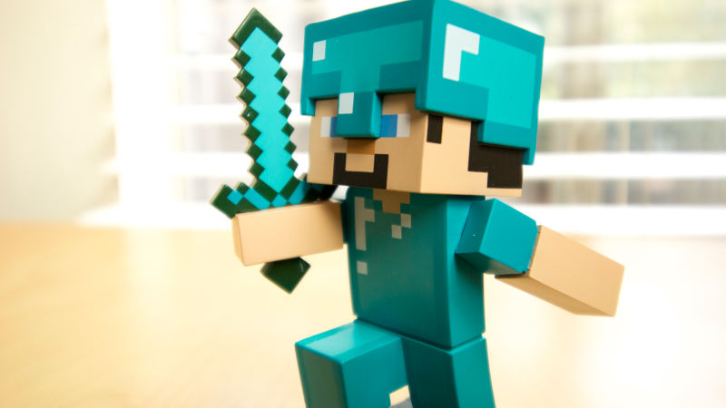 COLLECT THEM ALL: Series #1 Minecraft Adventure Figures   Steve Is Ready  For An Adventure With His Diamond Armor And Diamond Sword