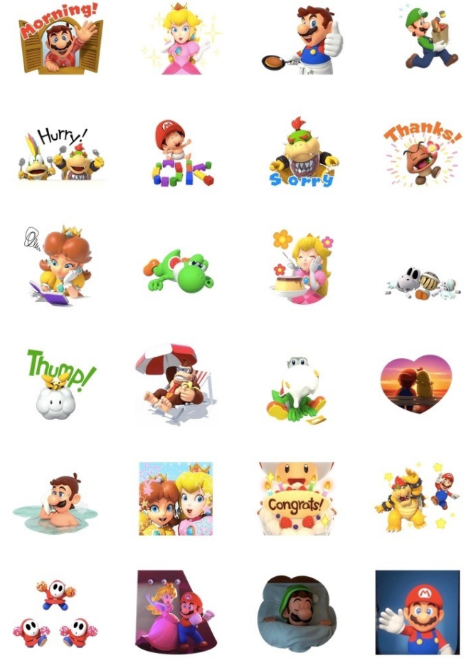 Super Mario's Relaxing Life stickers added to LINE mobile