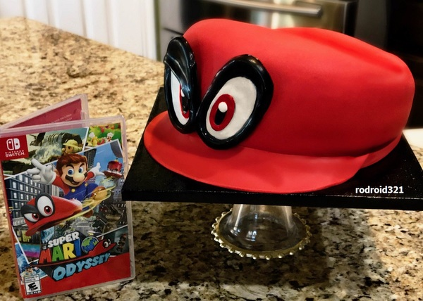 Fan Art Super Mario Odyssey Cappy Cake Gonintendo