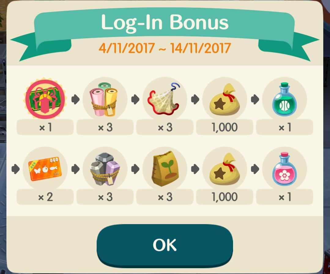 Fabuleux Animal Crossing: Pocket Camp - content update for Nov. 4th, 2017  SG34
