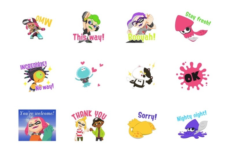 Line mobile app splatoon 2 digital stickers available