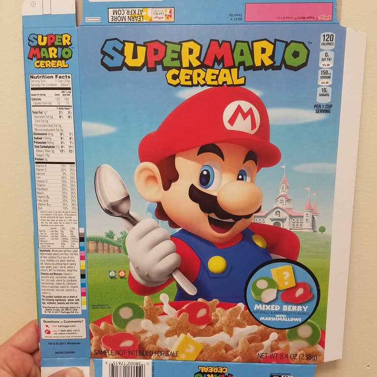 A Look At The Super Mario Cereal Sample Sleeve