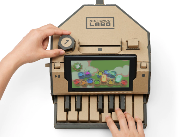 nintendo labo piano toy con lets you draw your own sine graph for