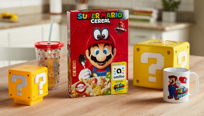 f7eb290220 With Super Mario™ Cereal, Nintendo and Kellogg's® have teamed up to take  fans on a breakfast odyssey that will continue long after the cereal box is  empty.