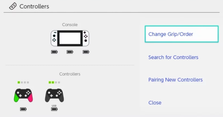 The Switch now knows what color Pro Controller you're using