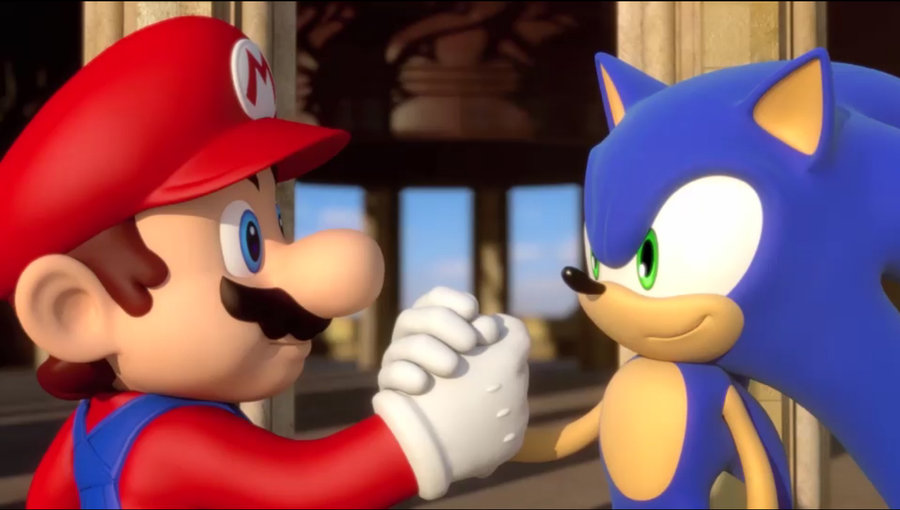 Mario and Sonic - team-building activity from games done legit