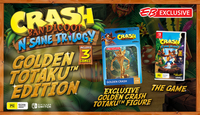 eb games australia offering crash bandicoot n sane trilogy golden