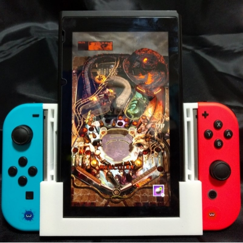 Custom 3D-printed Switch Joy-Con grips for games that