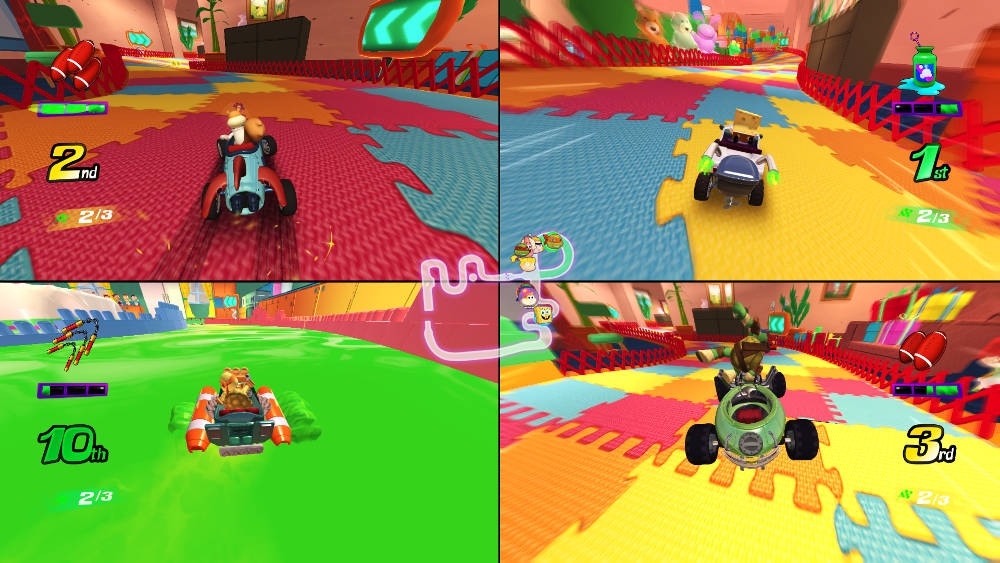 Nickelodeon Kart Racers Announced Spongebob Tmnt Rugrats And More