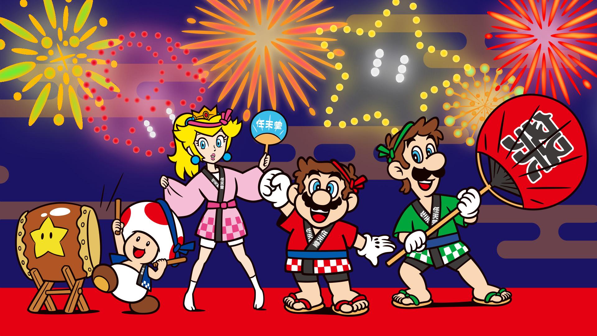 Nintendo Releases Natsu Matsuri Wallpapers