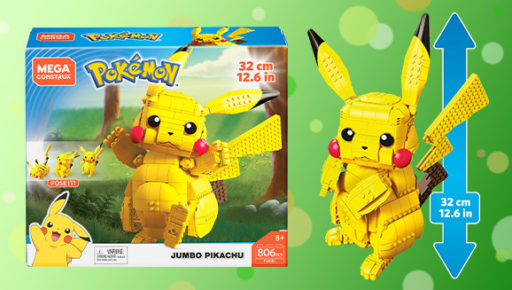 Build Your Own Near Life-Size Pikachu With The Mega ...