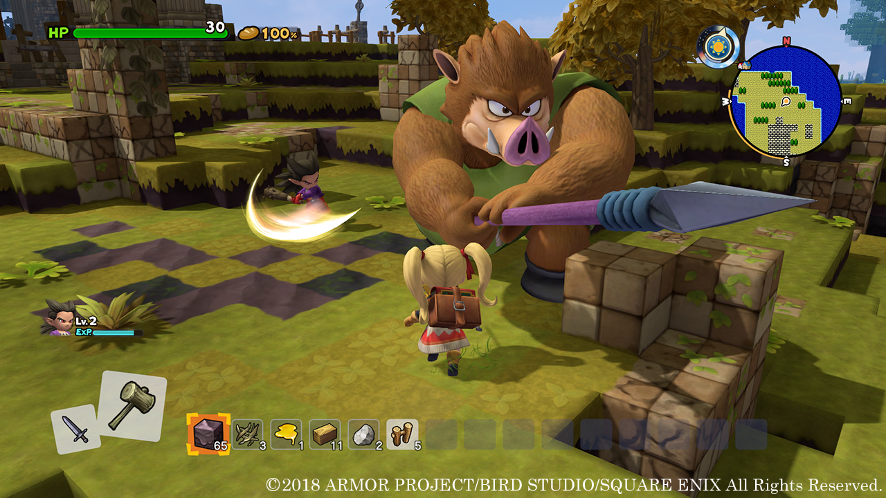 Dragon Quest Builders 2 - direct-feed screens and off-screen