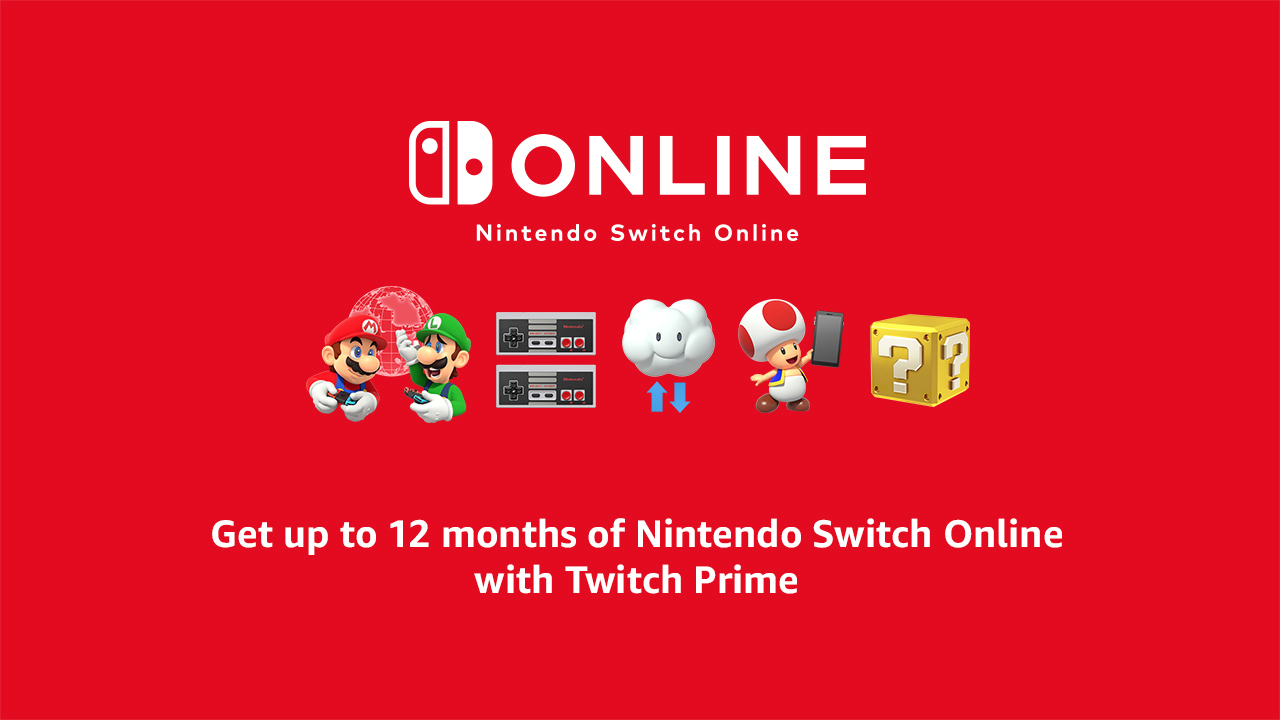Twitch Prime And Nintendo Offer One Year of Free Nintendo Switch Online