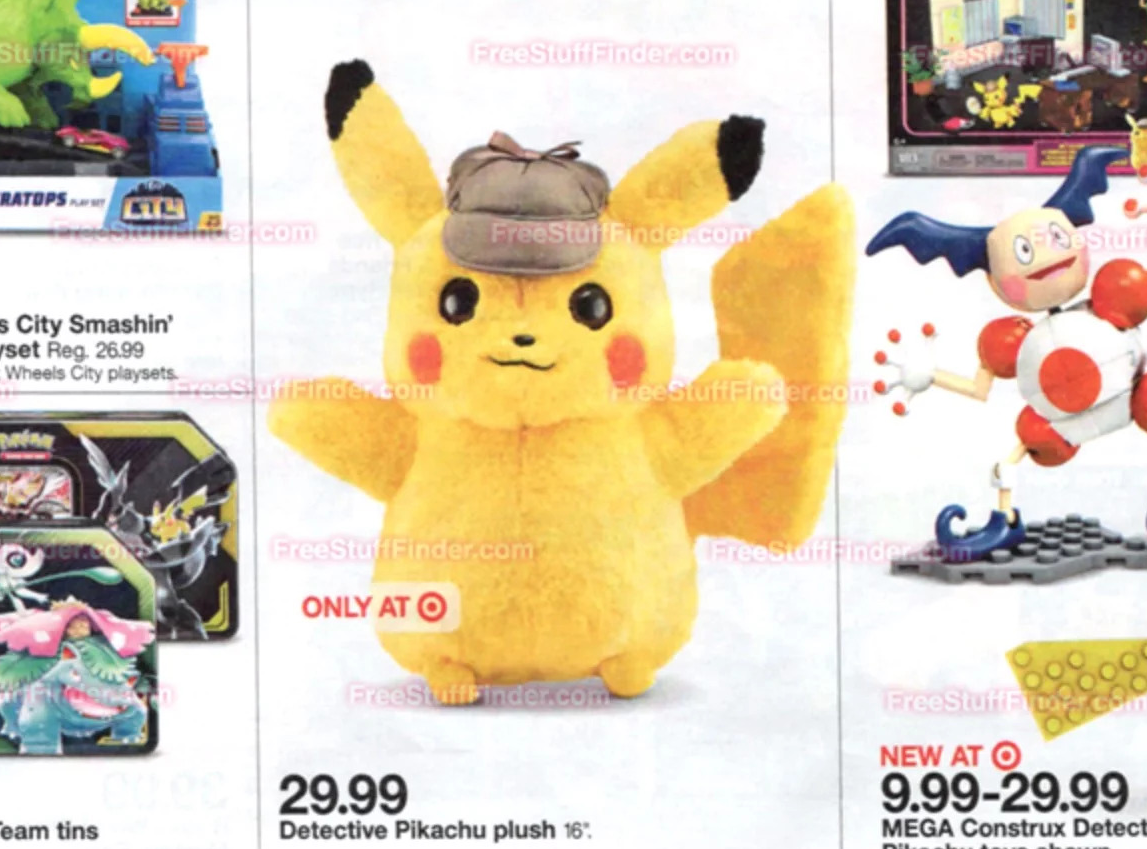Target Selling Exclusive Detective Pikachu Plush Starting Today