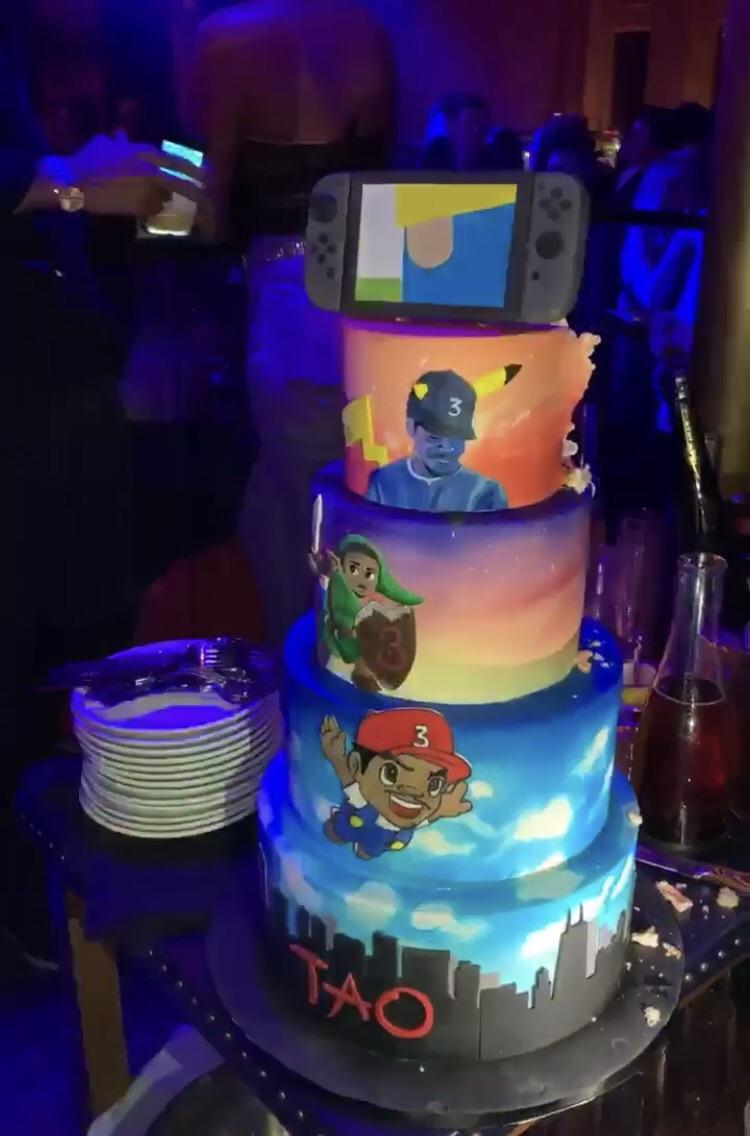 Cool Chance The Rapper Celebrates Hits Birthday With A Nintendo Themed Funny Birthday Cards Online Alyptdamsfinfo