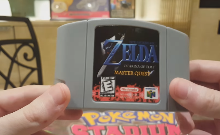 The Legend of Zelda: Ocarina of Time Master Quest flashed to