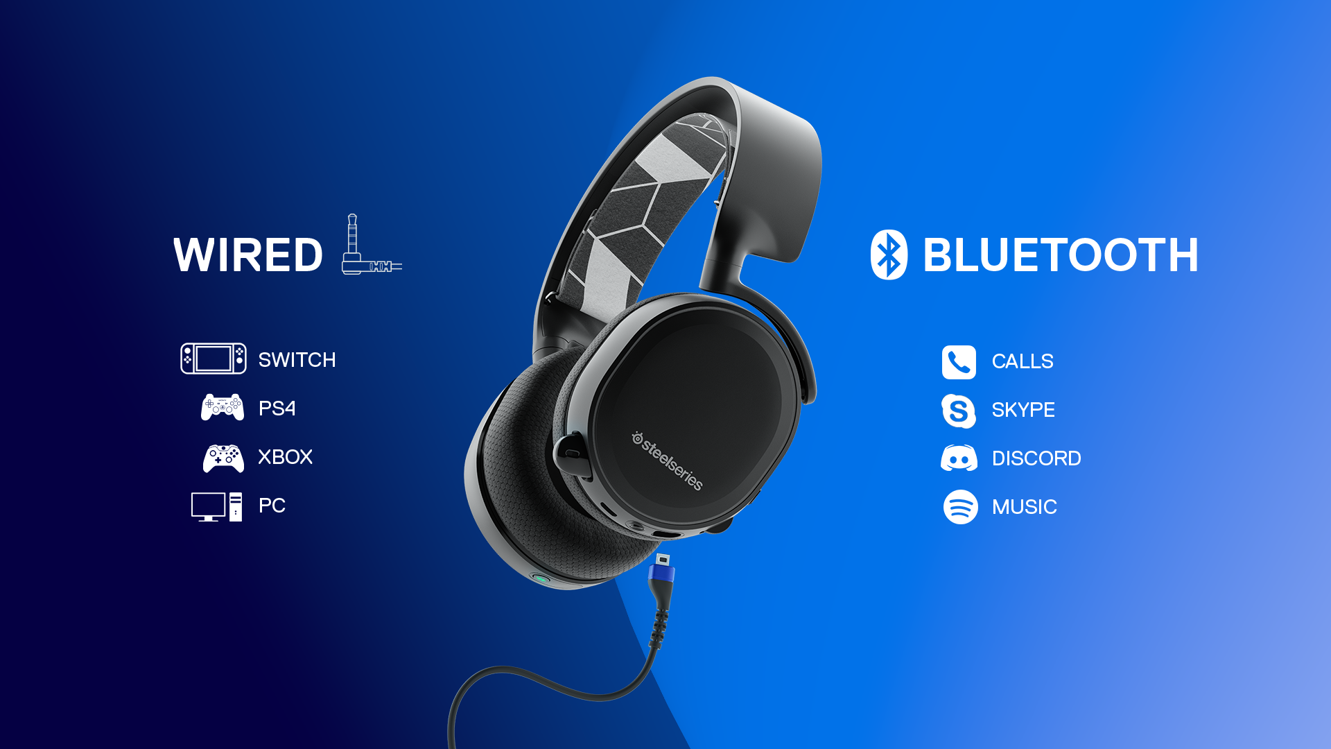 steelseries announces new arctis 3 bluetooth headset for simultaneous audio on switch gonintendo. Black Bedroom Furniture Sets. Home Design Ideas