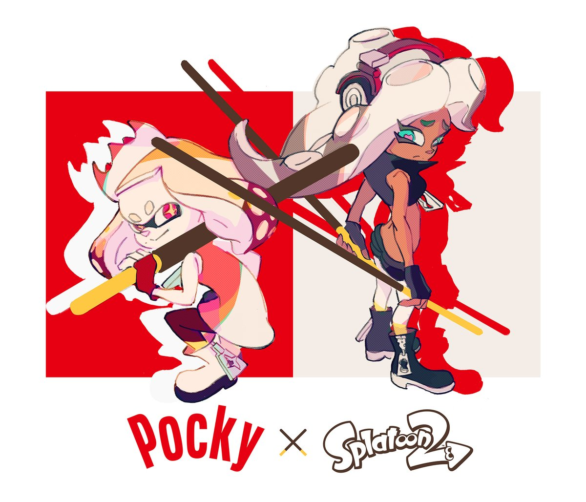 Nintendo shares another piece of artwork for the upcoming Splatoon 2 Pocky Splatfest