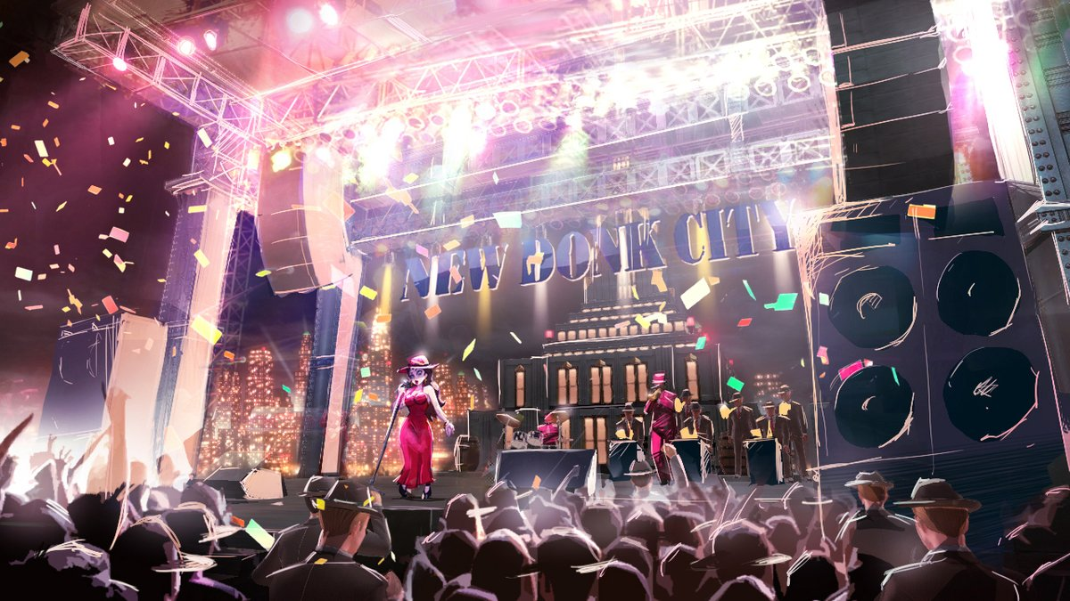 Nintendo shares a new piece of concept art for Super Mario Odyssey's New Donk City