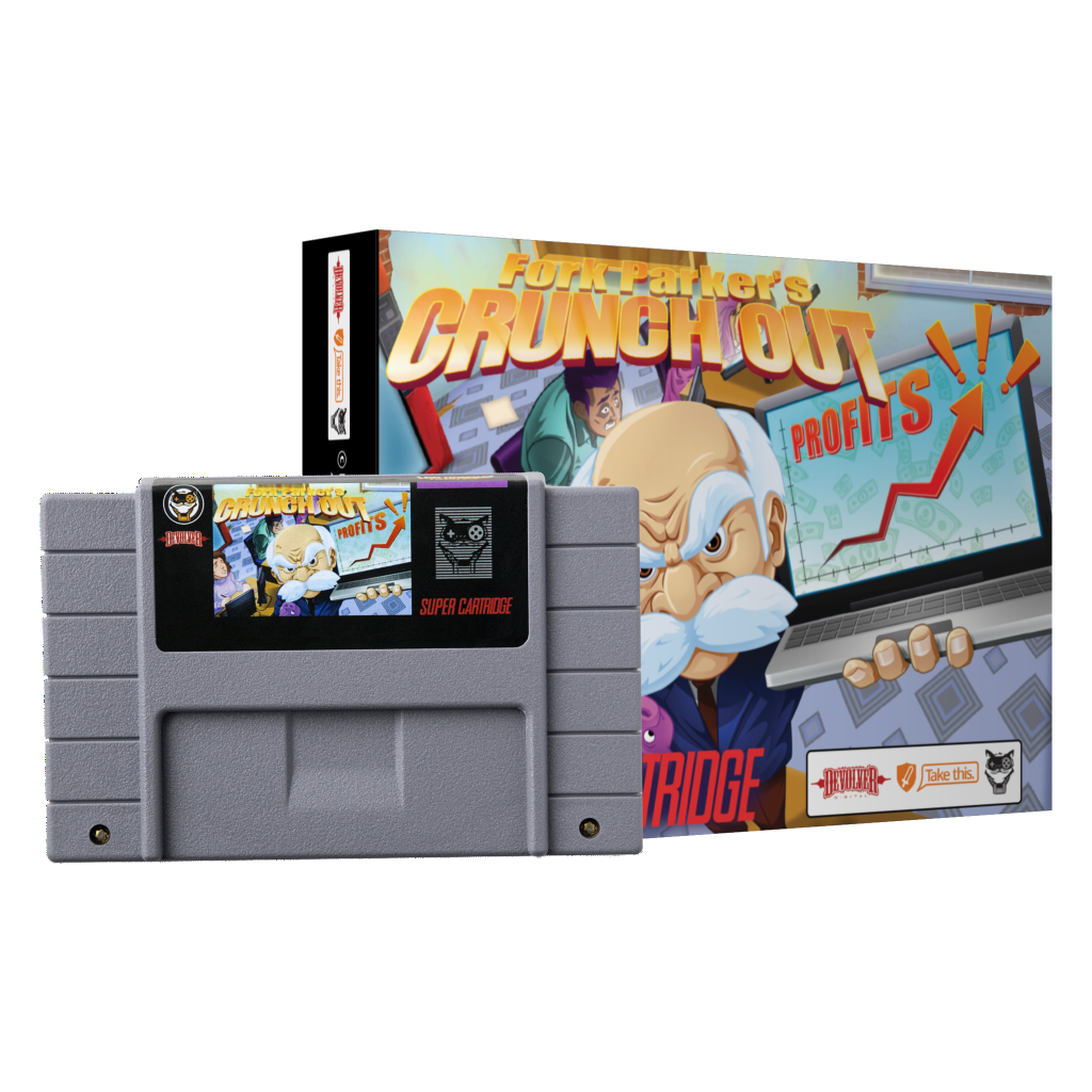 Fork Parker's Crunch Out Now Available on Super Nintendo