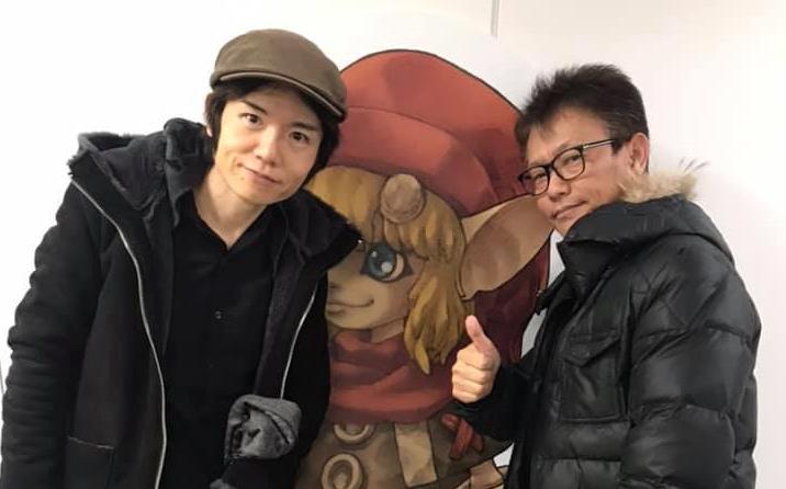 Masahiro Sakurai drops by Brownies studio for a visit