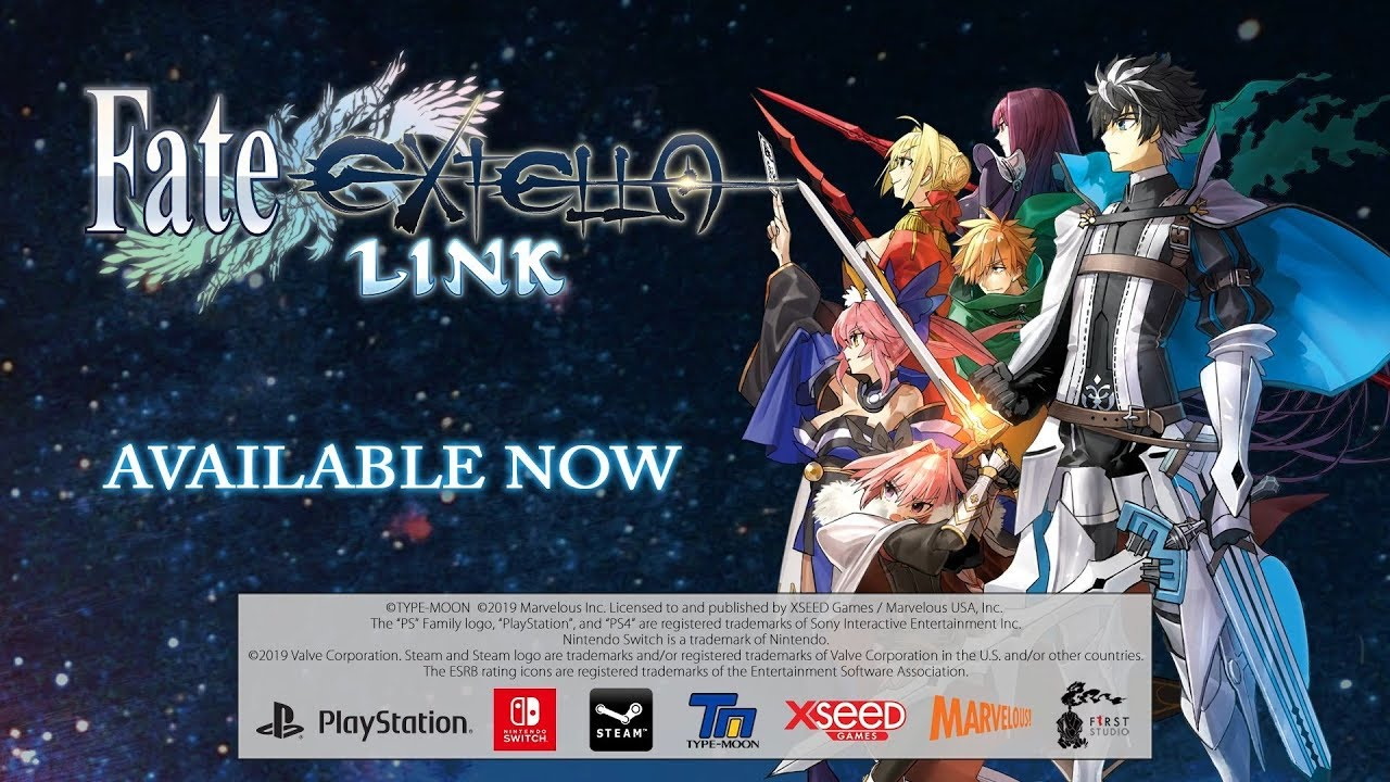 Legendary Heroes Gather for Battle, Fate/EXTELLA LINK Now Available on Switch