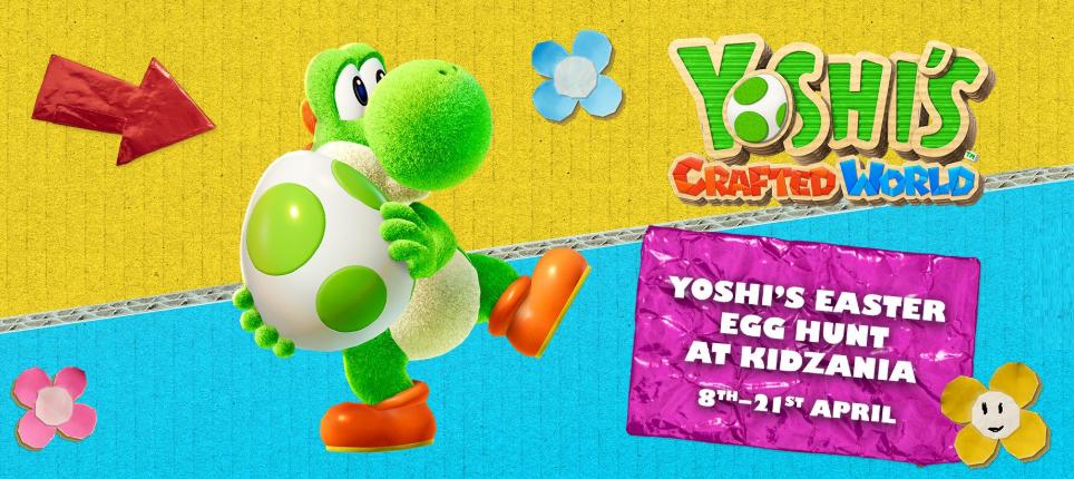 Cartoon yoshi egg hunt