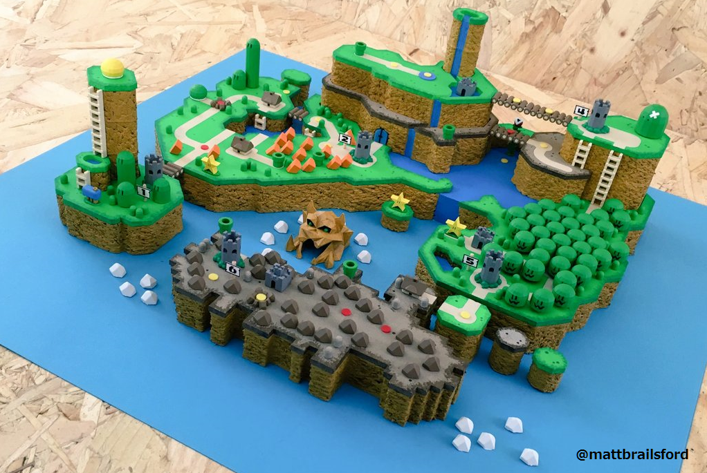 Fan turns Super Mario World map into a 3D model