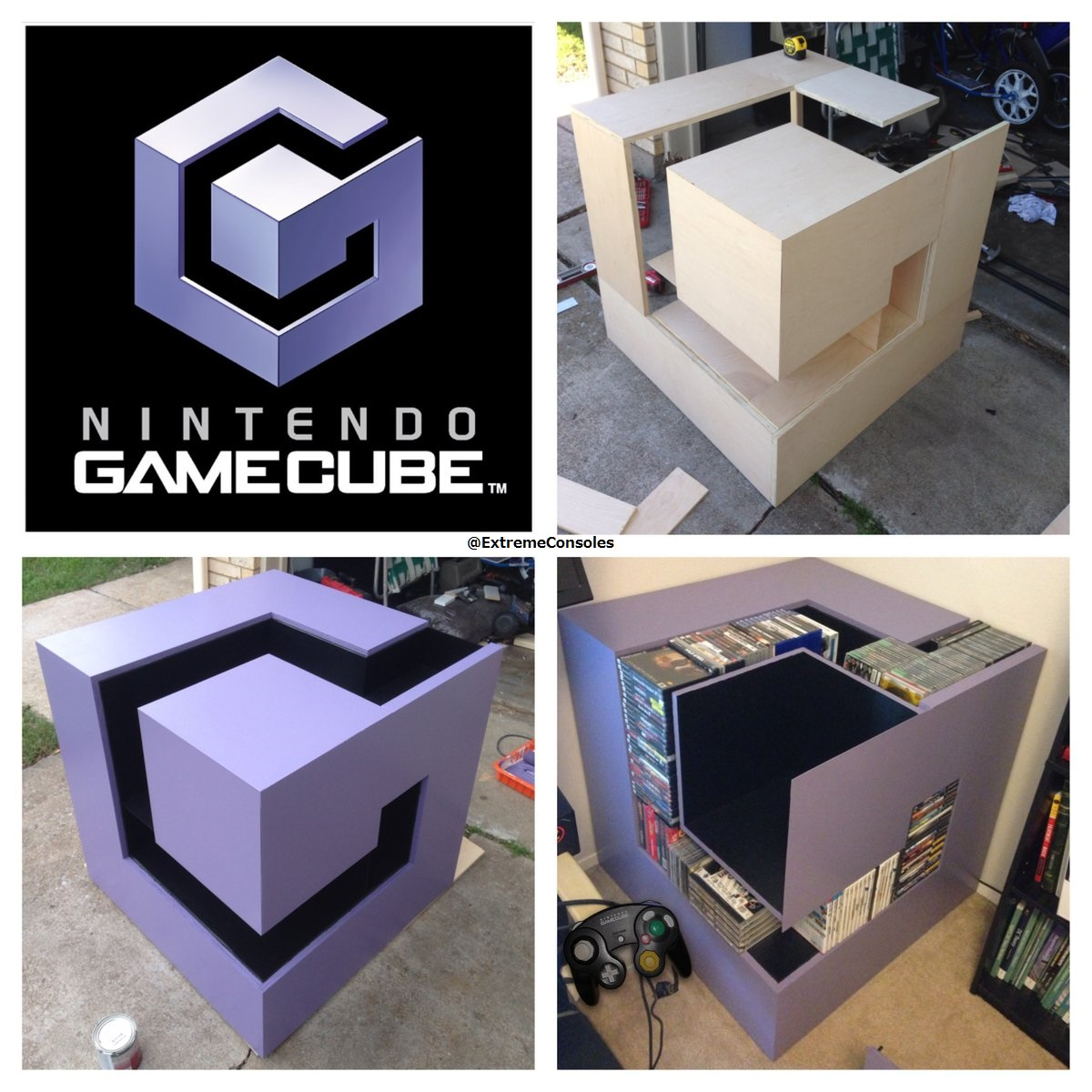 Fan turns the GameCube logo into a game storage case