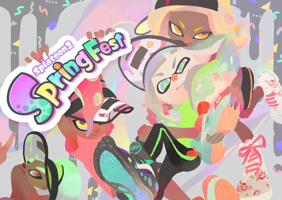 Nintendo shares official Splatoon 2 Spring Fest artwork