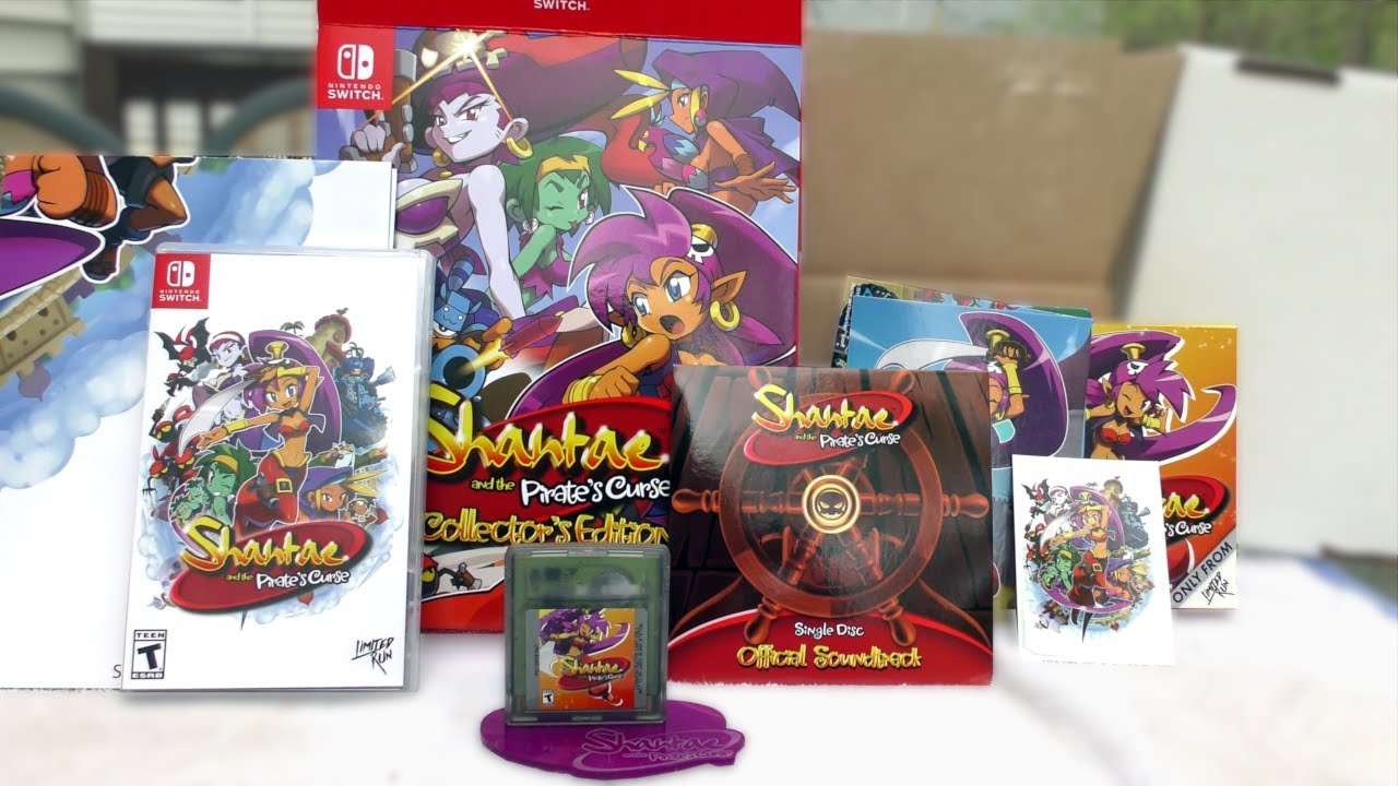 Shantae and the Pirate's Curse - Limited Run Games Collector's Edition unboxing
